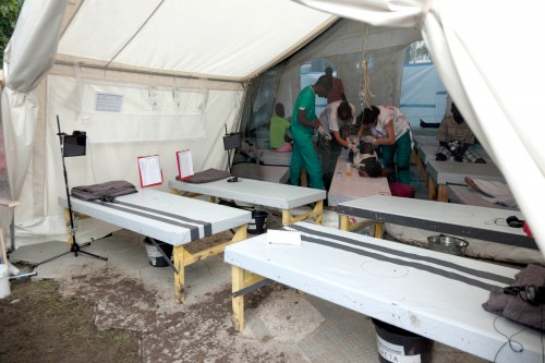 MSF cholera treatment centre at Glastonbury Festival